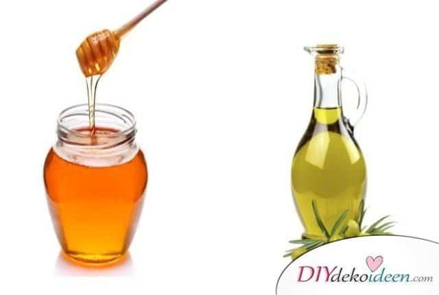 DIY Hausmittel gegen Spliss - Honig und Olivenöl Haarkur