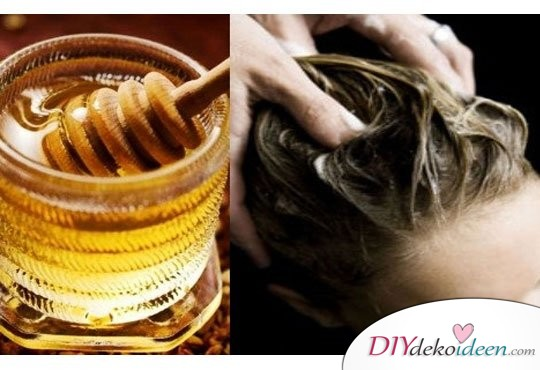 DIY Hausmittel gegen Spliss - Honig-Haarmaske