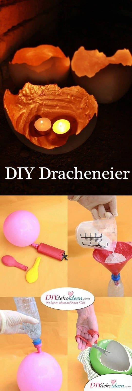 DIY Games of Thrones Drachen Eier aus Gips