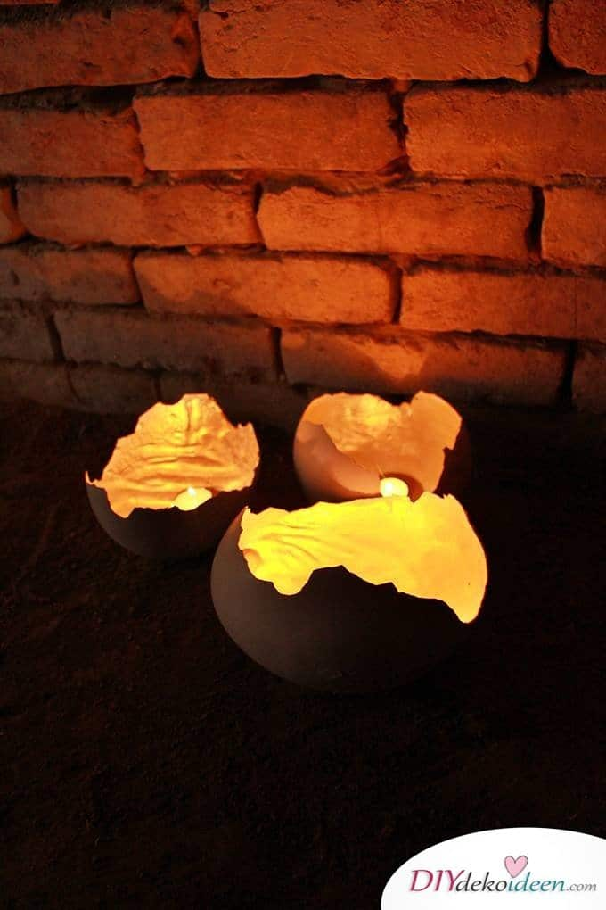 DIY Game of Thrones Drachen Eier - Kerzenlichter mit Stil