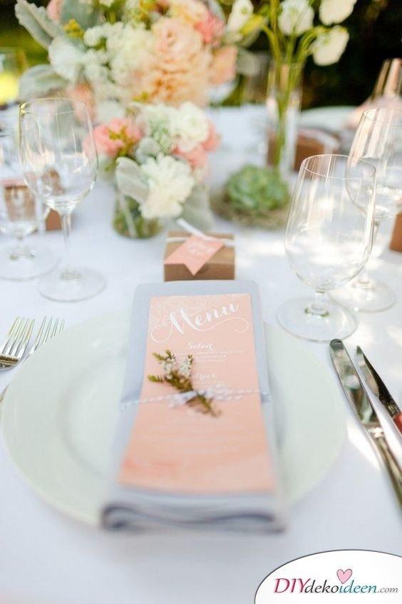 Hochzeitstischdeko Ideen - Romantische Hochzeit