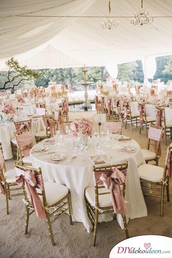 Hochzeitstischdeko Ideen - Zartes Rosa