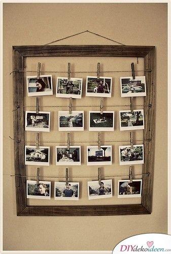 DIY Hochzeitsdekoration Bastelideen - Polaroid-Fotowand