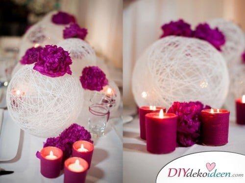 DIY Hochzeitsdekoration Bastelideen - Garnkugeln