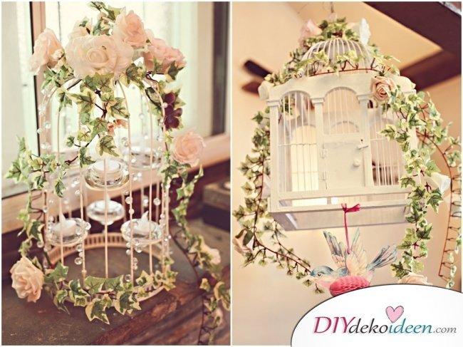 DIY Hochzeitsdekoration Bastelideen - Vogelkäfigdeko