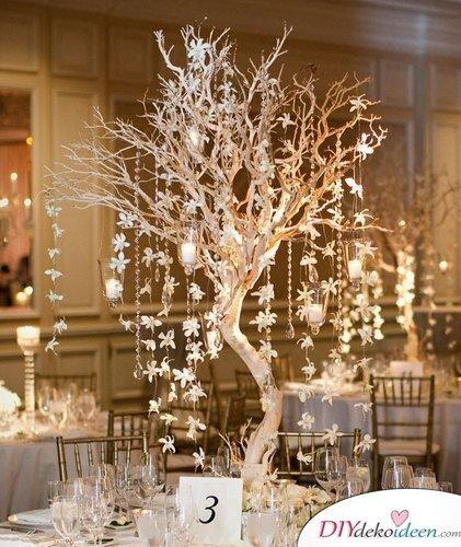 DIY Hochzeitsdekoration Bastelideen - Wunschbaum