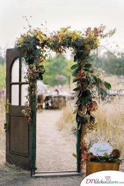 DIY Hochzeitsdekoration Bastelideen - Vintage-Tür