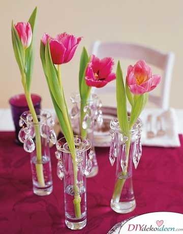 DIY Hochzeitsdekoration Bastelideen - Reagenzglas-Vasen