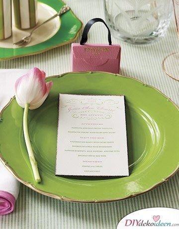 DIY Hochzeitsdekoration Bastelideen - Persönliches Menü