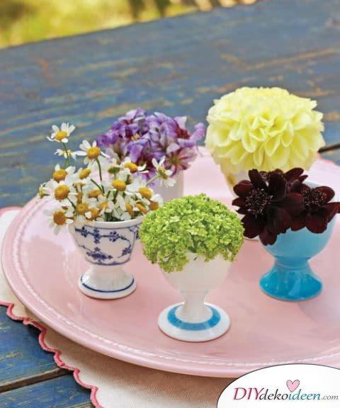 DIY Hochzeitsdekoration Bastelideen - Mini-Blumensträuße
