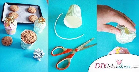 Geschenke originell verpacken mit dieser DIY Geschenkschachtel Bastelidee