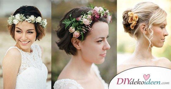 Die besten DIY Brautfrisuren für kurze Haare. Elegant, verspielt und klassisch.
