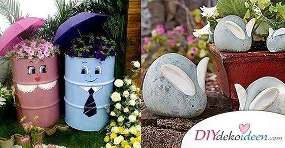 20+ DIY Dekoideen für den Garten – So einfach ist Gartendeko selber machen