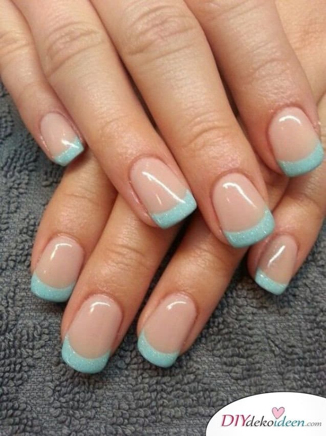 DIY Nageldesign Ideen - Sommernägel - French Tip