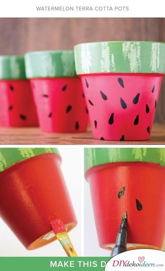 Sommerdeko - DIY Dekoideen - Blumentopf