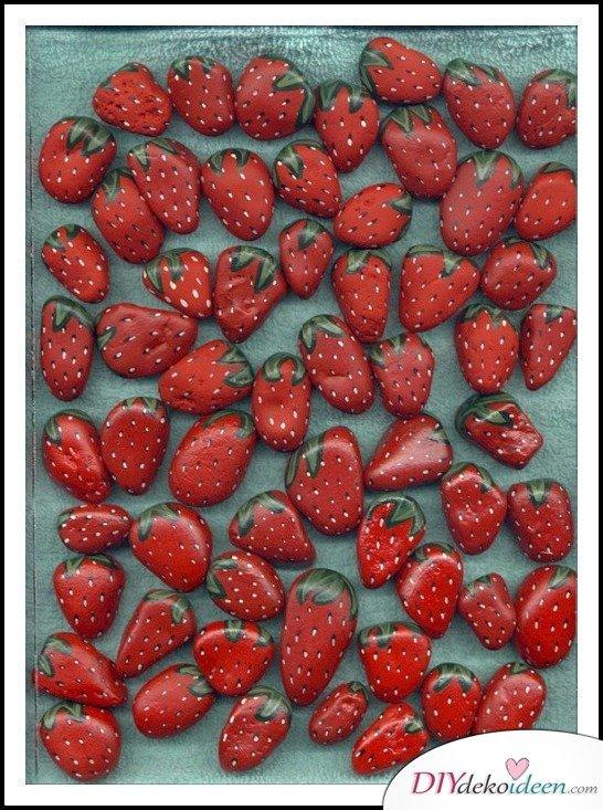 Sommerdeko - DIY Dekoideen - Erdbeeren