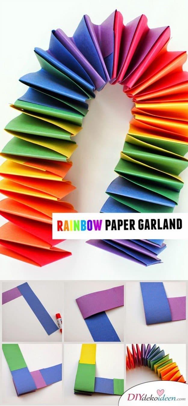 Kinderparty DIY Dekoideen - Papiergirlande