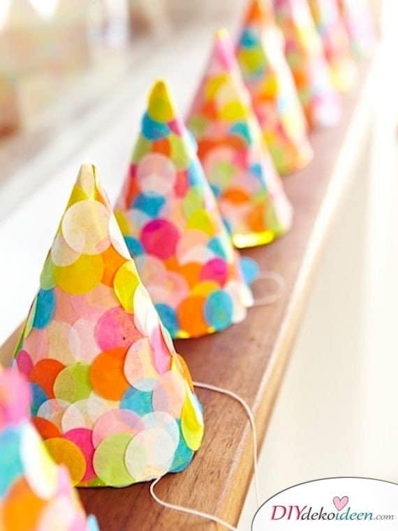 DIY Bastelideen für Kinderpartys - Partyhut