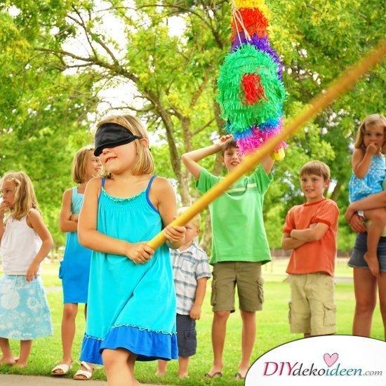 DIY Spielideen für Kindergeburtstage - Pinata