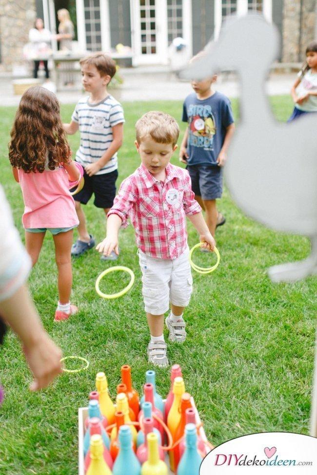 DIY Spielideen für Kindergeburtstage - Ringe werfen