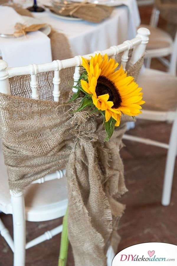 Garten Hochzeit dekorieren