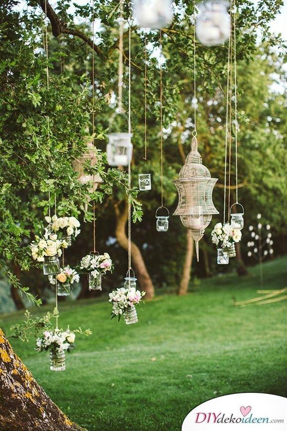 Garten Hochzeit Lichterdeko
