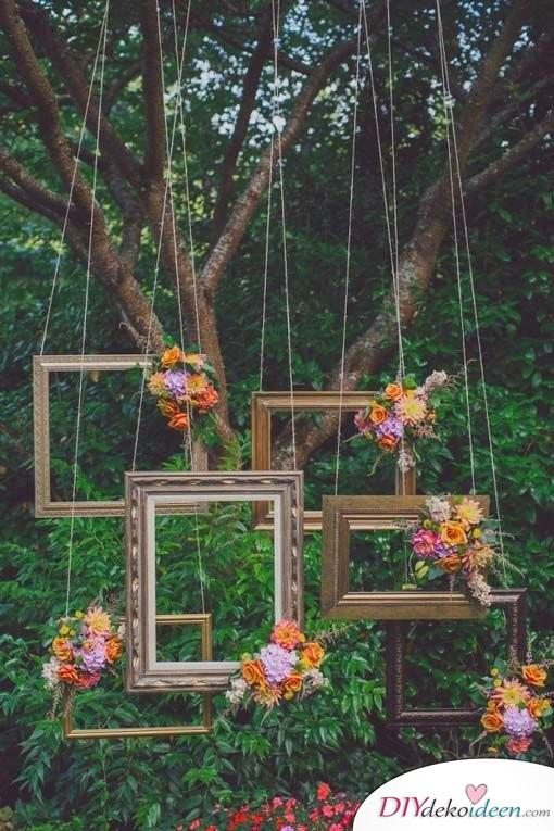 Garten Hochzeit - DIY Fotohintergrund