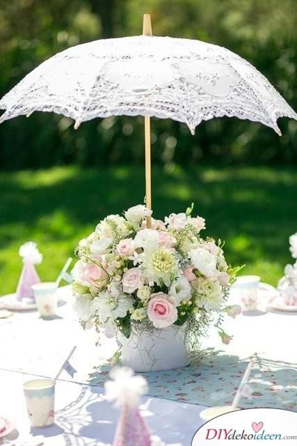 Garten Hochzeit - DIY Tischdeko