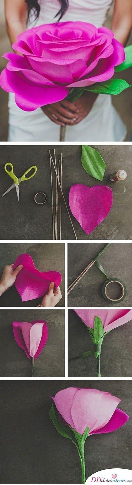 Garten Hochzeit - Papierblumen basteln