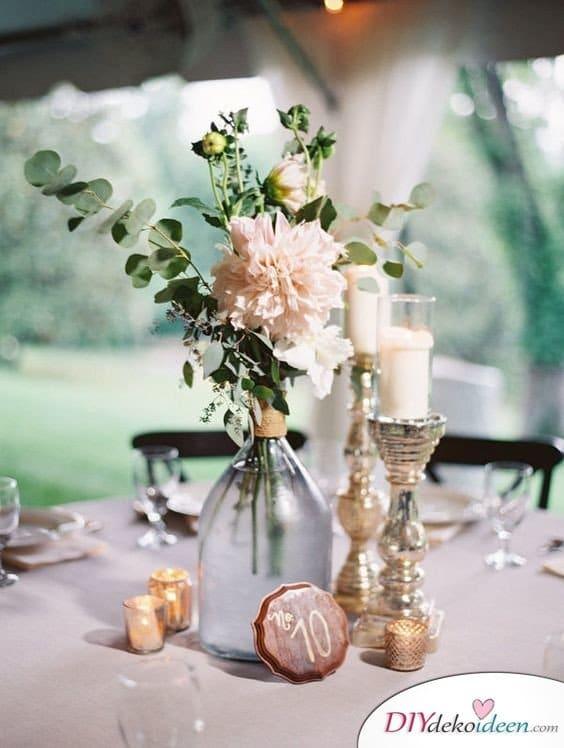 Garten Hochzeit - DIY Tisch Deko