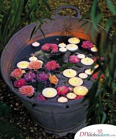 Garten Hochzeit - DIY Lichter