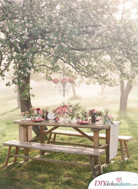 DIY Garten Hochzeit Deko - Tischdeko