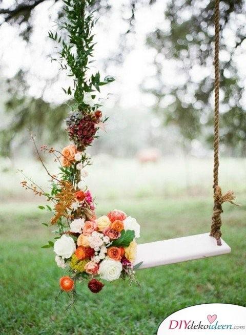 Garten Hochzeit - DIY Blumen Deko