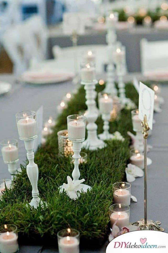 Garten Hochzeit - Tischdeko
