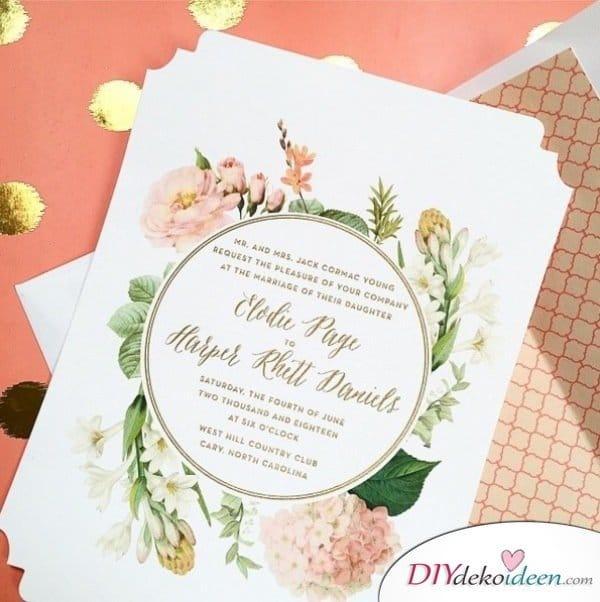 Garten Hochzeit - Einladungskarten