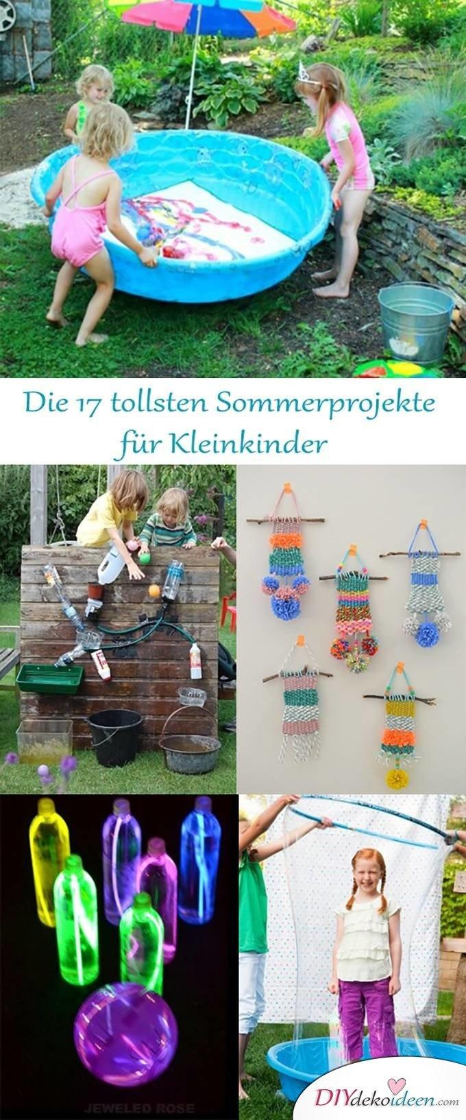 Sommerprojekte zum Basteln mit Kleinkindern