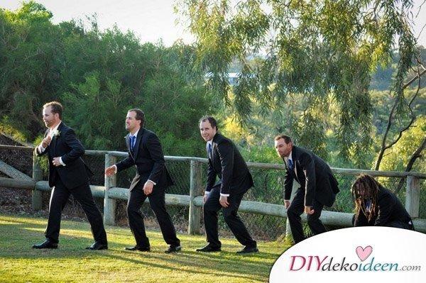 Witzige Hochzeitsfotos - Trauzeugen