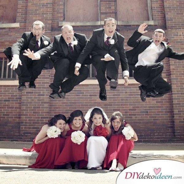 Witzige Hochzeitsfotos - Einzigartige Fotoideen