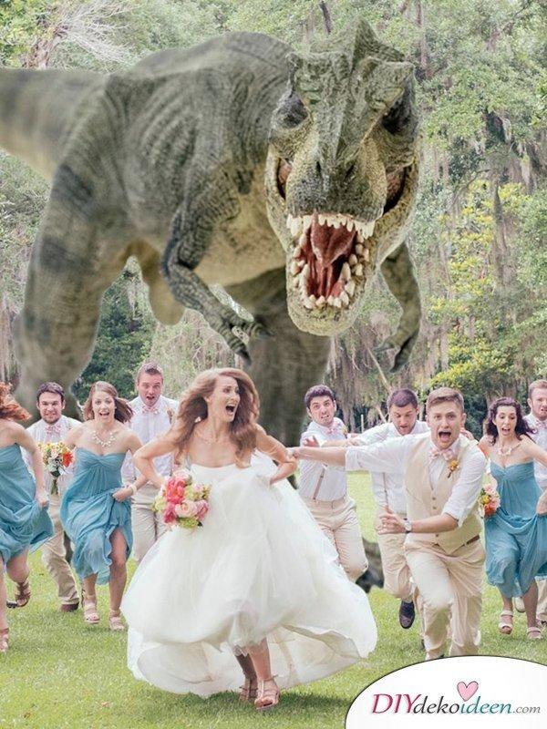 Witzige Fotoideen - Hochzeitsfotos