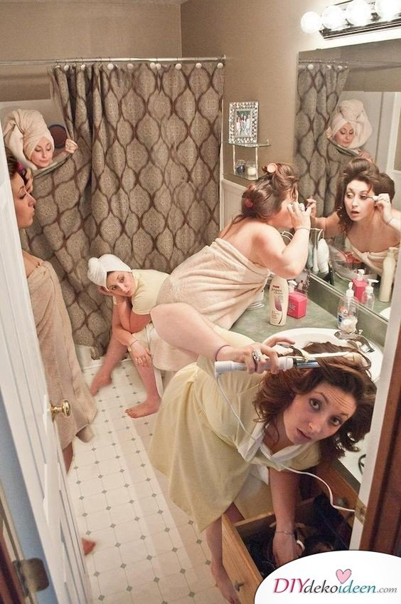 Witzige Hochzeitsfotos - Brautjungfern