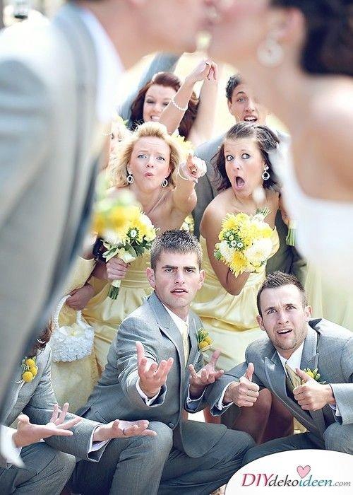 Witzige Hochzeitsfotos - Brautjungfernfotos