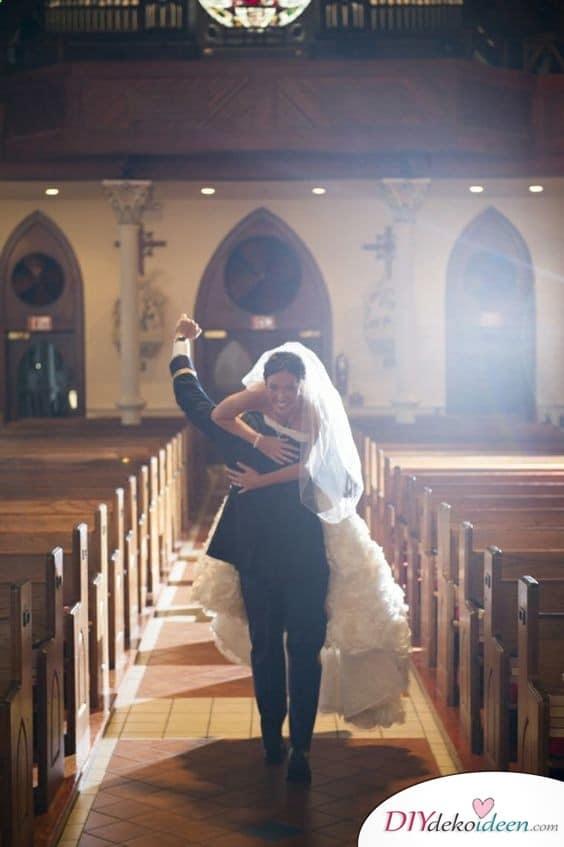 Witzige Hochzeitsfotos - Coole Fotoideen