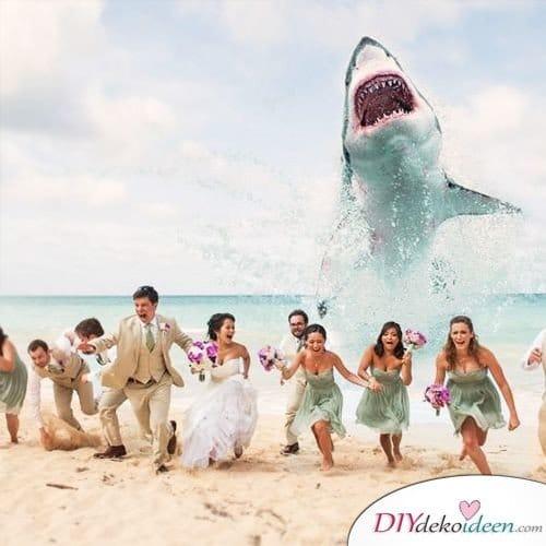 Witzige Hochzeitsfotos - Lustige Fotoideen