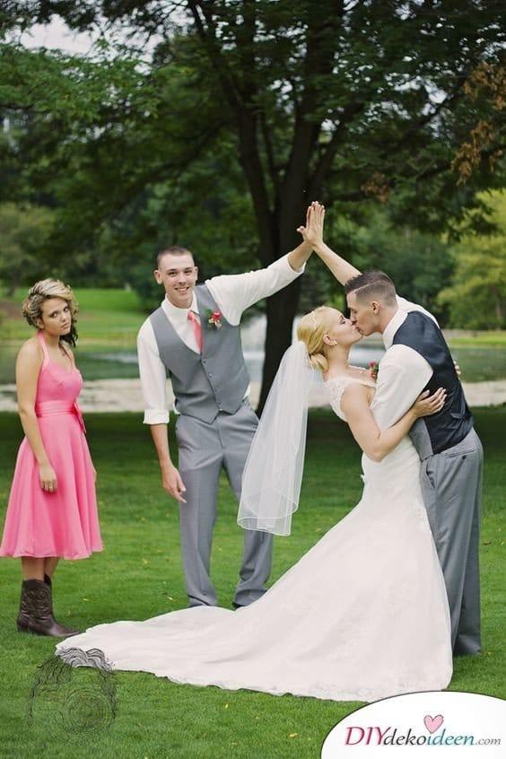 Witzige Hochzeitsfotos - Hochzeitsfeier