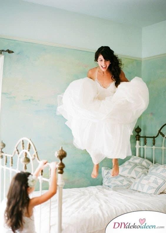 Witzige Hochzeitsfotos - Brautfotos