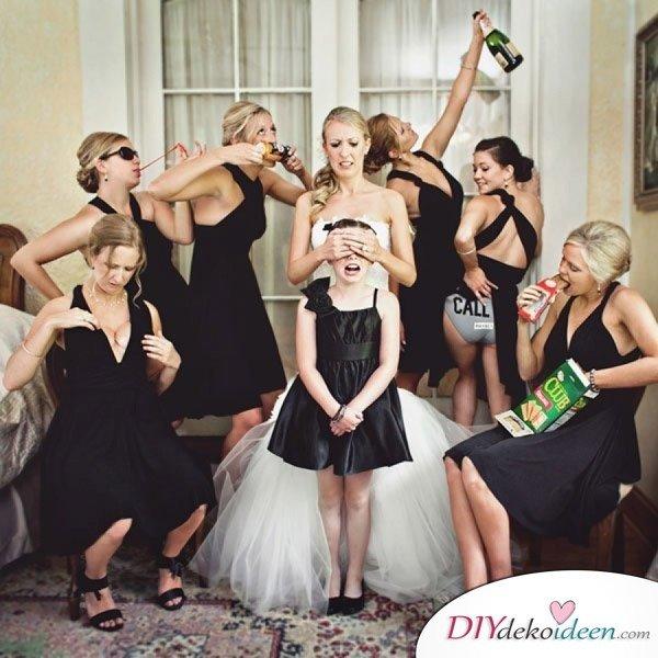 Witzige Hochzeitsfotos - Fotoideen für die Brautjungfern