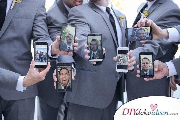 Witzige Hochzeitsfotos - Fotoshooting Ideen