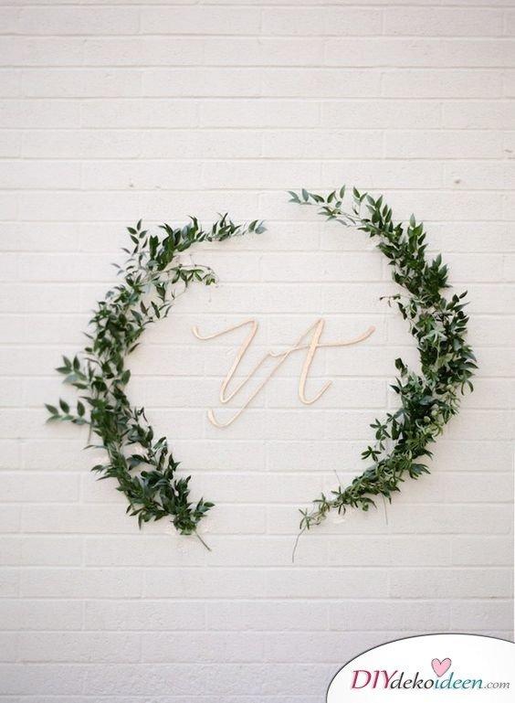 DIY Hochzeitsfoto Hintergrund - Wandschmuck