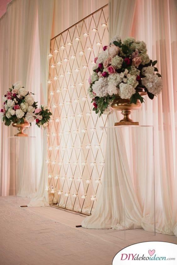 DIY Hochzeitsfoto Hintergrund - romantische Deko
