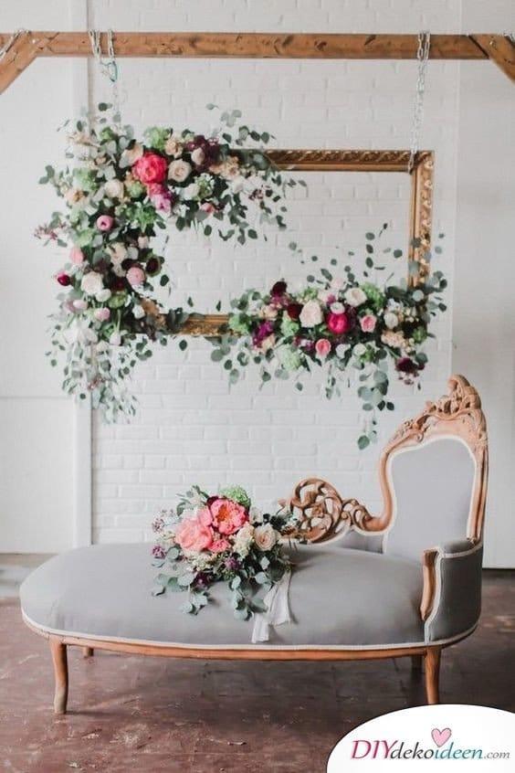 DIY Hochzeitsfoto Hintergrund - Bilderrahmen Deko